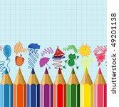 seamless horizontal school...   Shutterstock .eps vector #49201138