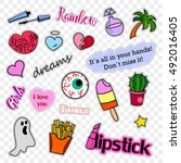 fashion patch badges. stickers  ...   Shutterstock . vector #492016405