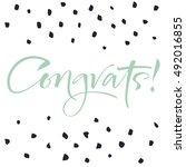 modern calligraphy congrats.... | Shutterstock .eps vector #492016855