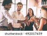 cheers to best friends  top... | Shutterstock . vector #492017659