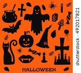 Halloween Symbols Black...