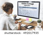 online college application form ... | Shutterstock . vector #492017935
