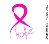 vector breast cancer awareness... | Shutterstock .eps vector #492018967