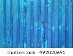 blue cargo ship container... | Shutterstock . vector #492020695
