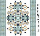 vector seamless decorative... | Shutterstock .eps vector #492025921