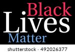 black lives matter word cloud... | Shutterstock .eps vector #492026377