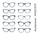 set of glasses isolated on... | Shutterstock .eps vector #492027079