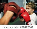 Boy Boxing Training Punch Mitts ...