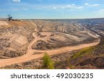 large excavation site with... | Shutterstock . vector #492030235