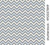 seamless chevron pattern.... | Shutterstock .eps vector #492037849