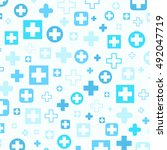 medical background  blue... | Shutterstock .eps vector #492047719