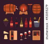 set of wine design elements ... | Shutterstock .eps vector #492055279