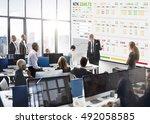 stock exchange trading forex... | Shutterstock . vector #492058585