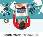 photography equipment with... | Shutterstock .eps vector #492060211