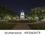 night view of the california... | Shutterstock . vector #492063679