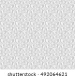 seamless pattern with flowers | Shutterstock .eps vector #492064621