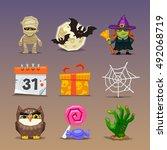 funny halloween icons set 2