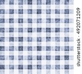 abstract washed gingham checked ... | Shutterstock . vector #492071209