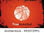basketball logo. basketball... | Shutterstock .eps vector #492072991