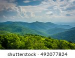 View of the Blue Ridge from Blackrock Summit, in Shenandoah National Park, Virginia.