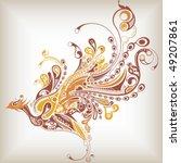abstract bird   Shutterstock .eps vector #49207861