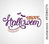 happy halloween  trick or treat....   Shutterstock .eps vector #492084274