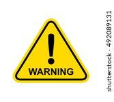 warning sign.  | Shutterstock . vector #492089131