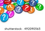 question mark symbol and icon... | Shutterstock . vector #492090565