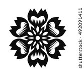floral vector ornament for... | Shutterstock .eps vector #492091411