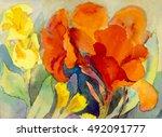 Abstract Watercolor Original...
