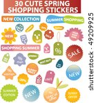 30 cute spring shopping...   Shutterstock .eps vector #49209925