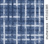 grid faded denim texture vector ... | Shutterstock .eps vector #492102385