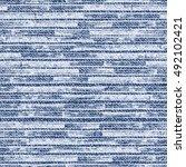 striped faded denim texture...   Shutterstock .eps vector #492102421