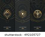 vector set of templates... | Shutterstock .eps vector #492105727