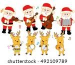 the christmas concert of santa... | Shutterstock .eps vector #492109789
