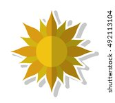 isolated abstract sun design | Shutterstock .eps vector #492113104