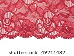 Red Decorative Lace With Floral ...