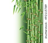 Bamboo Trunk With Leaves Design