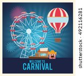 activities of carnival and... | Shutterstock .eps vector #492116281