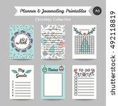 christmas printable journaling... | Shutterstock .eps vector #492118819