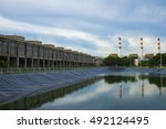 water reservoir for agriculture ... | Shutterstock . vector #492124495