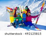 Family Ski Vacation. Group Of...