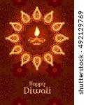 diwali festival. template for... | Shutterstock .eps vector #492129769