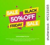 black friday sale banner for... | Shutterstock .eps vector #492131005