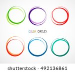 color circles set | Shutterstock .eps vector #492136861