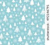 holiday pattern  christmas... | Shutterstock . vector #492146791