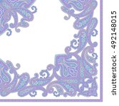 paisley scarf ornament | Shutterstock .eps vector #492148015