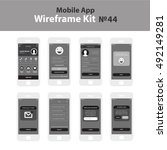 mobile wireframe app ui