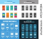 mobile wireframe app ui