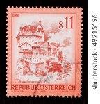 austria   circa 1976  a stamp... | Shutterstock . vector #49215196